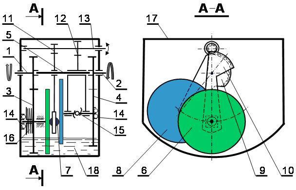 Принципиальная схема вариатора